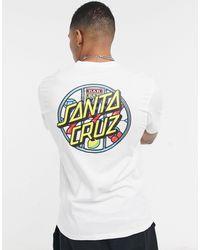 Santa Cruz Jackpot Dot - T-shirt - Blanc