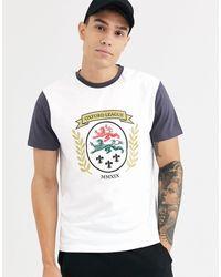 ASOS – T-Shirt mit Print auf der Brust - Weiß