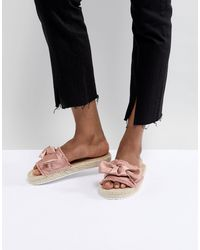 Miss Selfridge Bow Espadrille Sandals - Pink