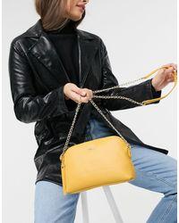 Paul Costelloe – e Umhängetasche aus Leder mit Kettenriemen - Mehrfarbig