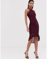 AX Paris Облегающее Платье С Высоким Воротом -фиолетовый - Пурпурный