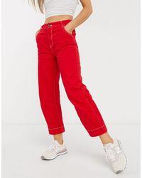 Native Youth Pantaloni slim rossi - Rosso