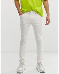 Cheap Monday Tight Skinny Jeans In White