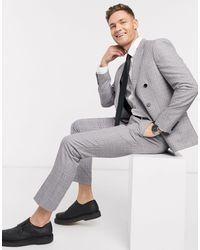 Moss Bros Moss London Eco Suit Pants - Grey