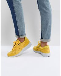 Asics - Gel Trainers In Yellow - Lyst
