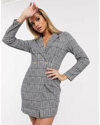 AX Paris Платье-пиджак В Клетку -мульти - Серый