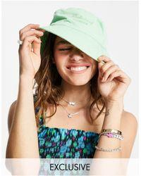Reclaimed (vintage) Inspired - cappello da pescatore verde slavato - Rosa