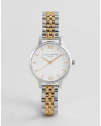 Olivia Burton - Ob16mdw34 White Dial Bracelet Watch In Mixed Metal - Lyst