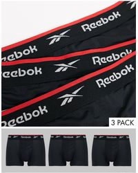 Reebok Confezione da 3 boxer aderenti sportivi neri - Nero