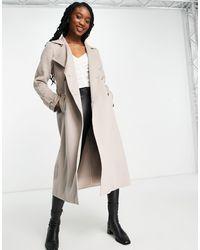 Forever New Trench-coat à ceinture avec boutons effet écaille - Rose