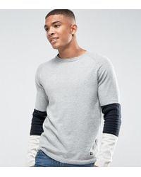 Jack & Jones - Originals Knitted Jumper With Sport Stripe Sleeve - Lyst