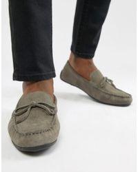 KG by Kurt Geiger - Kg By Kurt Geiger Driving Shoes In Grey Suede - Lyst