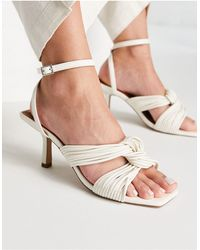 NA-KD Multistrap Knot Detail Sandals - White