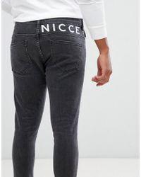 Nicce London - Jean skinny avec logo - Gris - Lyst