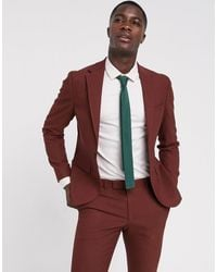 Moss Bros Moss London Suit Jacket In Copper - Red