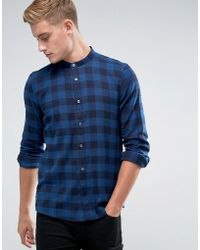 French Connection - Window Check Grandad Shirt - Lyst