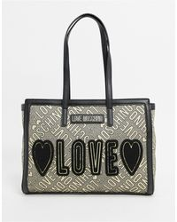 Love Moschino - Love Jacquard Tote Bag - Lyst