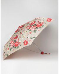 Cath Kidston Minilite 2 Winter Rose Oat Umbrella - Multicolour