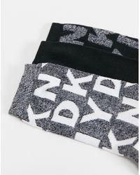 DKNY Aria 3-pack Socks - Black
