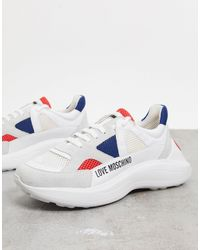 Love Moschino Sneakers chunky bianche - Bianco