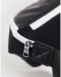 Armani Exchange Черная Сумка-кошелек На Пояс С Текстовым Логотипом -черный Цвет