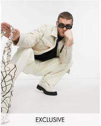 Reclaimed (vintage) Светло-бежевая Стеганая Куртка (от Комплекта) Inspired-кремовый - Естественный