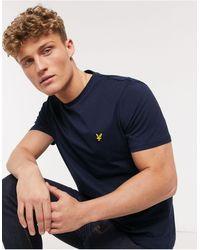 Lyle & Scott T-shirt con logo - Blu