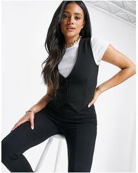 ASOS Jersey Suit Waistcoat - Black