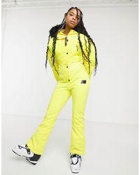 ASOS 4505 Ski Hooded Ski Suit - Yellow