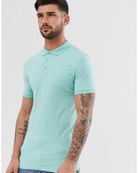 ASOS Muscle Fit Polo In Blue