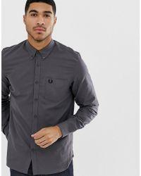 Fred Perry - Camisa Oxford clásica en gris - Lyst
