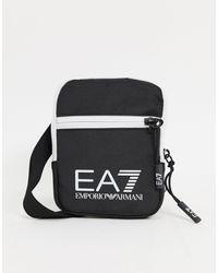 EA7 Train Mini Pouch Logo Cross Body Bag - Black