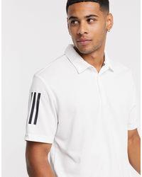 adidas Originals Polo bianca a tre strisce - Bianco