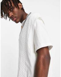 ASOS Cable Knit Cricket Vest - White