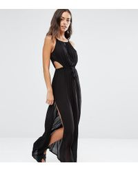 Akasa - Keyhole Cut Out Beach Maxi Dress In Black - Lyst