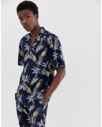 FairPlay - Capone Shirt With Pineapple Print In Navy - Lyst