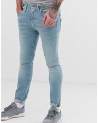 Levi's 519 Jafar - Superskinny Fit Jeans Met Normale Taille In Light Wash - Blauw