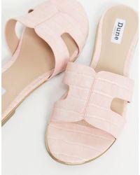 Dune Розовые Шлепанцы С Вырезами -розовый Цвет - Многоцветный