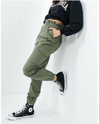 New Look Брюки-карго Цвета Хаки В Утилитарном Стиле -зеленый Цвет