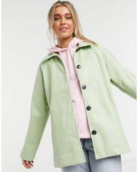 Monki Dalia Faux Leather Jacket - Green