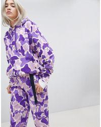 RIPNDIP Ripndip Oversized Hoodie In Camo Two-piece - Purple