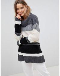 Lavand - Stripe Roll Neck Sweater - Lyst