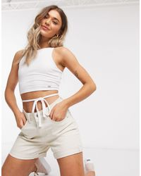 Hollister Babydoll Halterneck Top - White