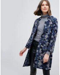 Pepe Jeans - Geometrie Wool Blend Oversized Coat - Lyst