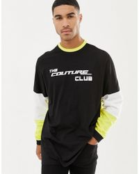 The Couture Club - Long Sleeve T-shirt With Racer Logo - Lyst