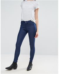 WÅVEN – Freya – Enge knöchellange Jeans - Blau