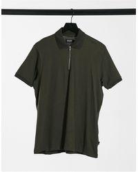 Burton Zip Neck Polo - Green