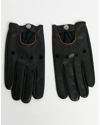 ASOS Touchscreen Driving Gloves - Black