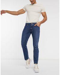 Wrangler Larston Slim Tapered Jeans - Blue