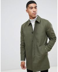 ASOS - Shower Resistant Single Breasted Trench In Green - Lyst